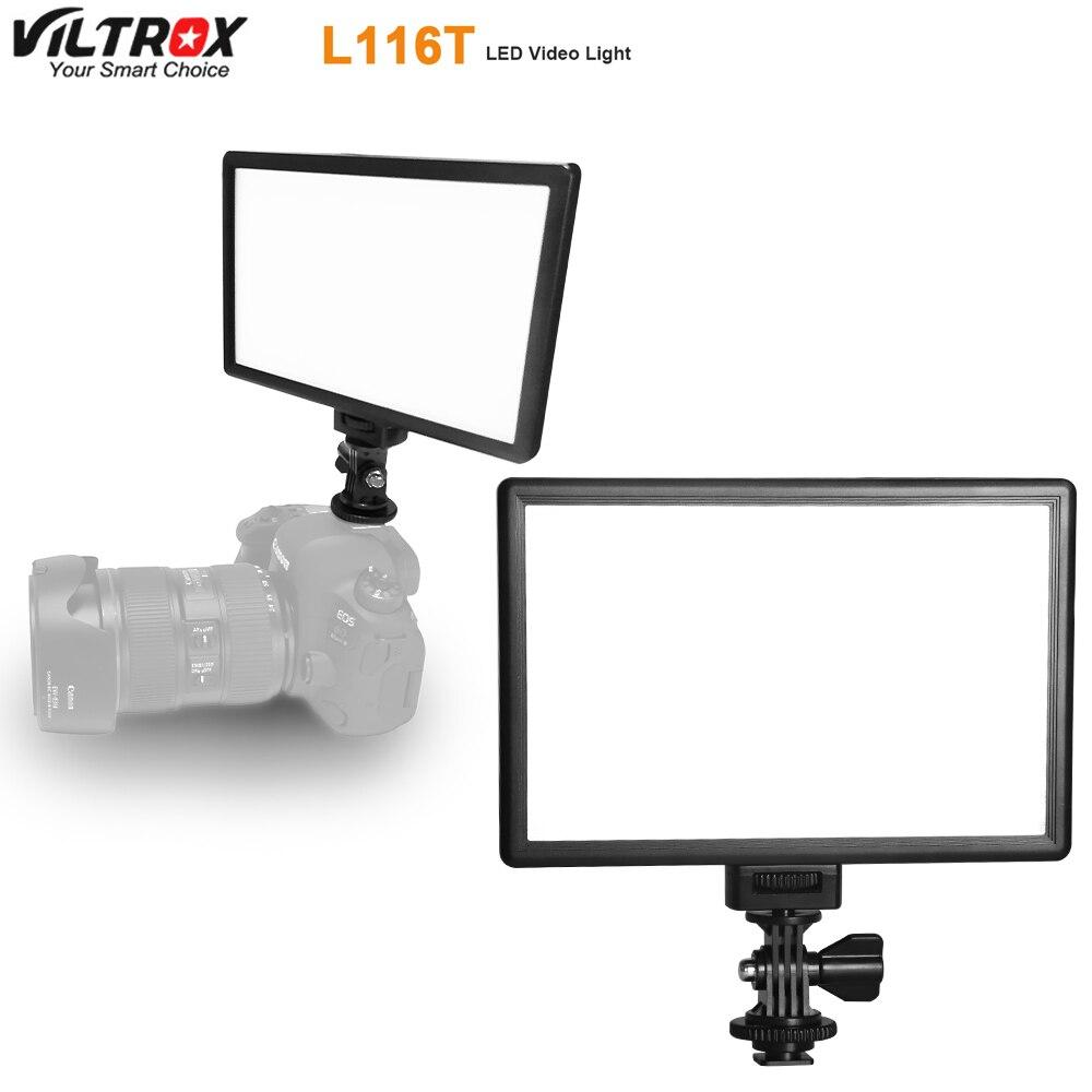 Viltrox-مصباح فيديو L116T LED ، نحيف للغاية ، LCD ، ثنائي اللون ، متغير الكثافة ، إضاءة استوديو DSLR ، لوحة مصباح لكاميرا الفيديو DV