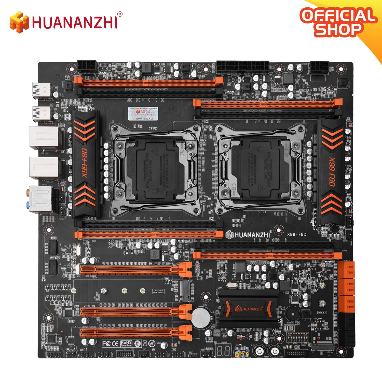 HUANANZHI X99 F8D X99 اللوحة إنتل المزدوج وحدة المعالجة المركزية X99 LGA 2011-3 E5 V3 DDR4 RECC 256GB M.2 NVME NGFF USB3.0 E-ATX الخادم