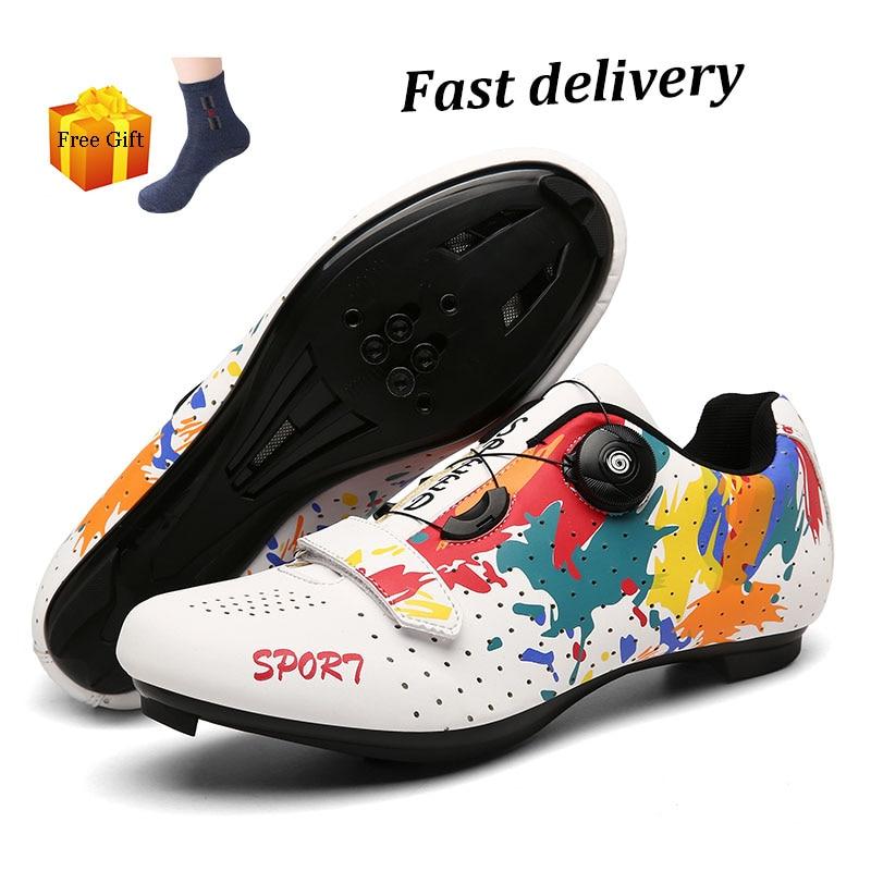 Zapatillas de ciclismo Spd para hombre, calzado deportivo profesional para triatlón y...