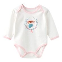 Baby Clothes Bodysuits Infant Boy One-Pieces Cartoon Print Girl Cotton Rompers 0-12M