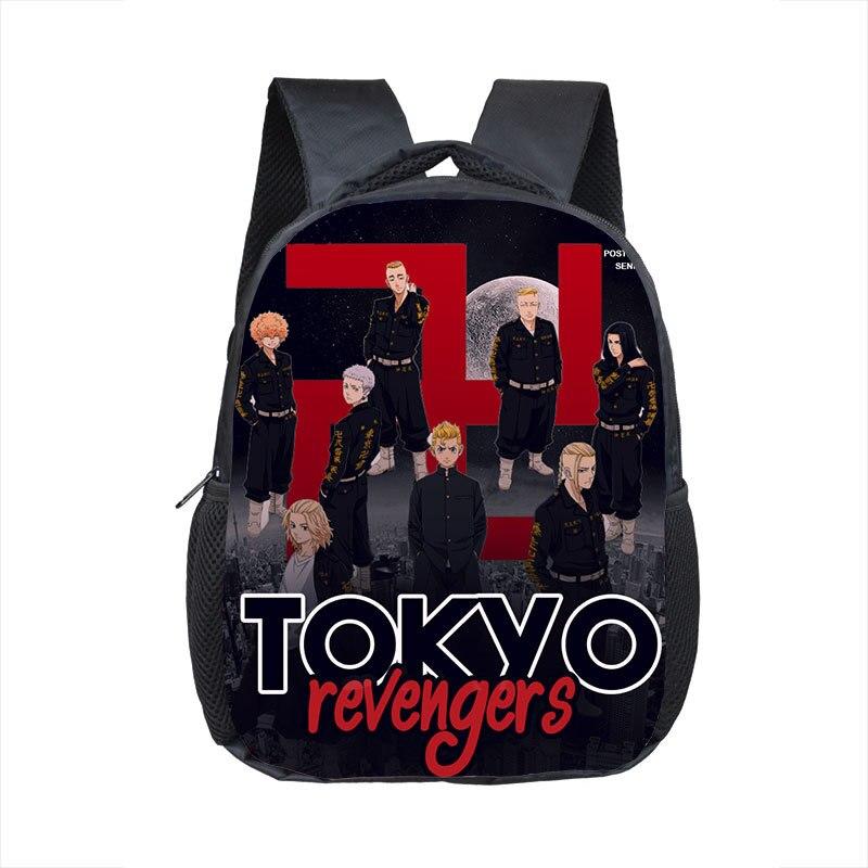 12 inch Anime Tokyo Revengers Kindergarten Backpack Children School Backpack for Girls Boys Mini Ruc