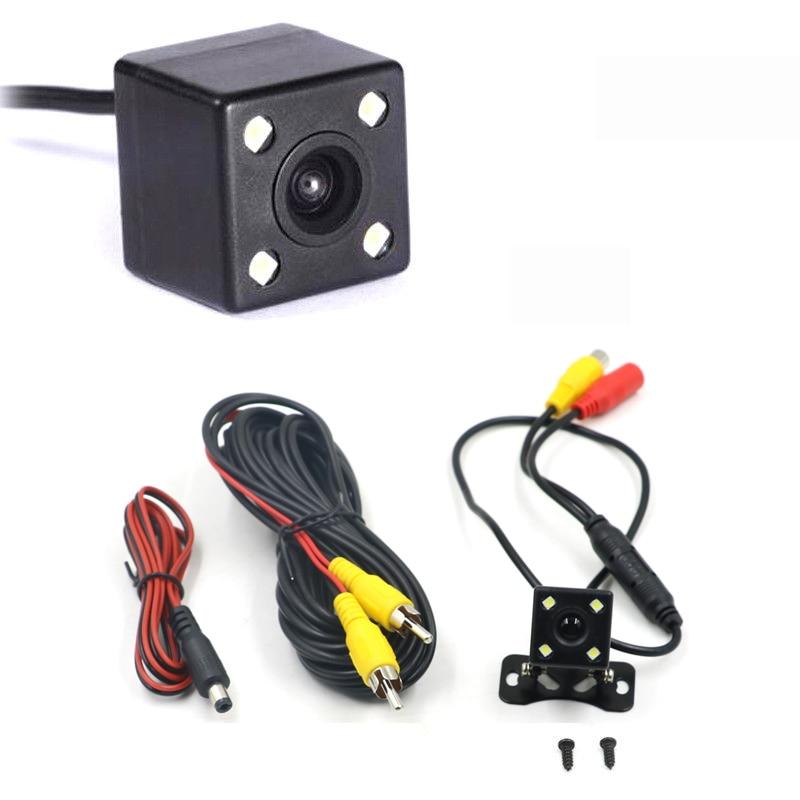 Car rear view camera HD rear view video vehicle camera Backup Reverse Camera 4 LED Night Vision Parking Camera  Wide Angle