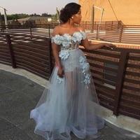 elegant evening dress 2021 off shoulder a line 3d flower long prom pageant gowns women formal party dresses vestidos feast