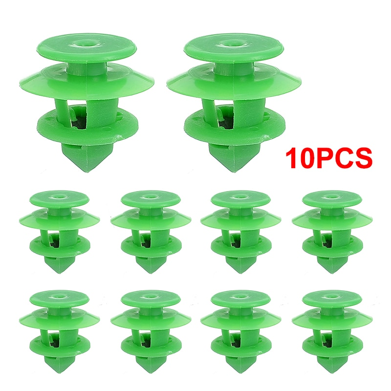 10pcs Green Auto Fasteners Car Door Card Trim Panel Clips Rear Tailgate Interior 0009912771 For Mercedes SPRINTER W906 VITO W639