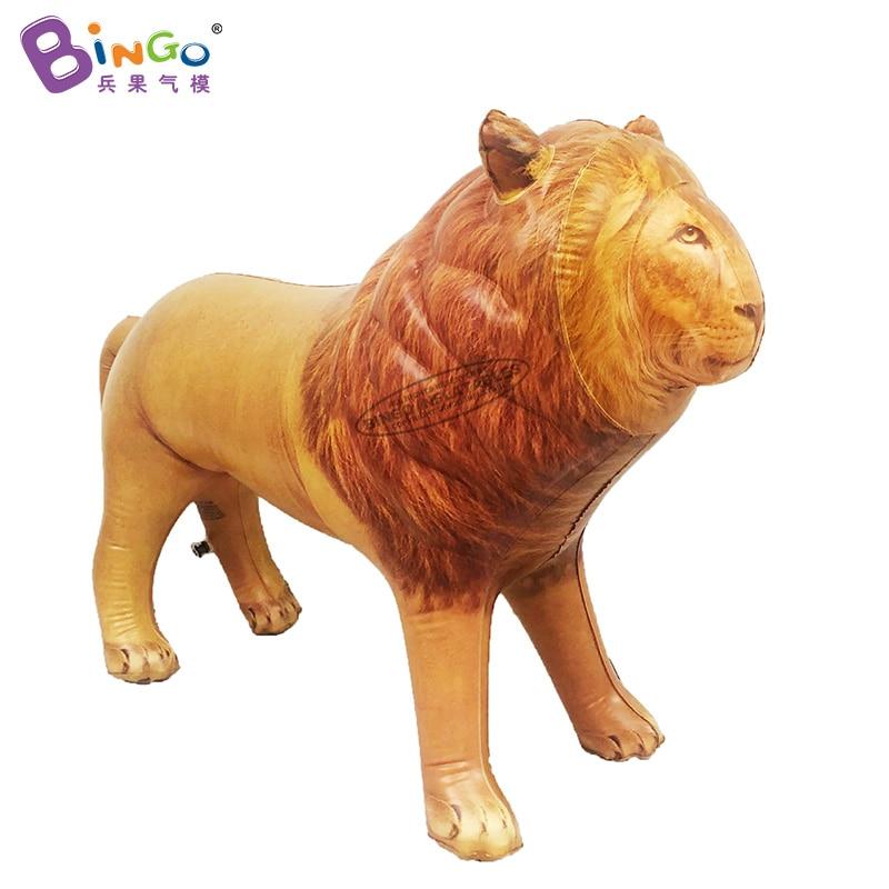 León inflable hermético personalizado/material de PVC estatuas de León inflables de tamaño real/decoración inflable Juguetes De León