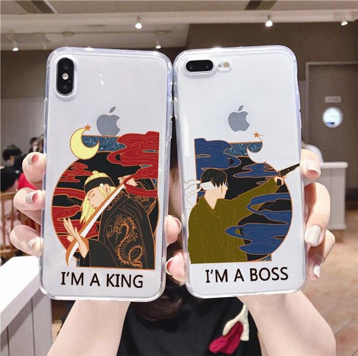 Agust D-2 suga king clear phone case For iphone 6/6s, 6Plus/6SPlus, 7 / 8 , 7Plus/8Plus, X , XS , XR , XSMax 11pro