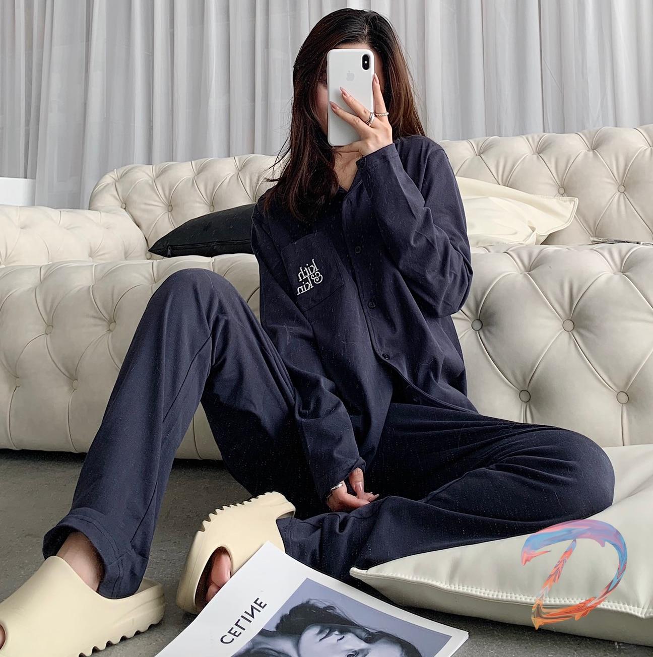 Kith Gift Box Pajamas Set High Quality Cotton Loose Casual Pajamas Men's Women's Kith Fashion Couples Limited Pajama Set