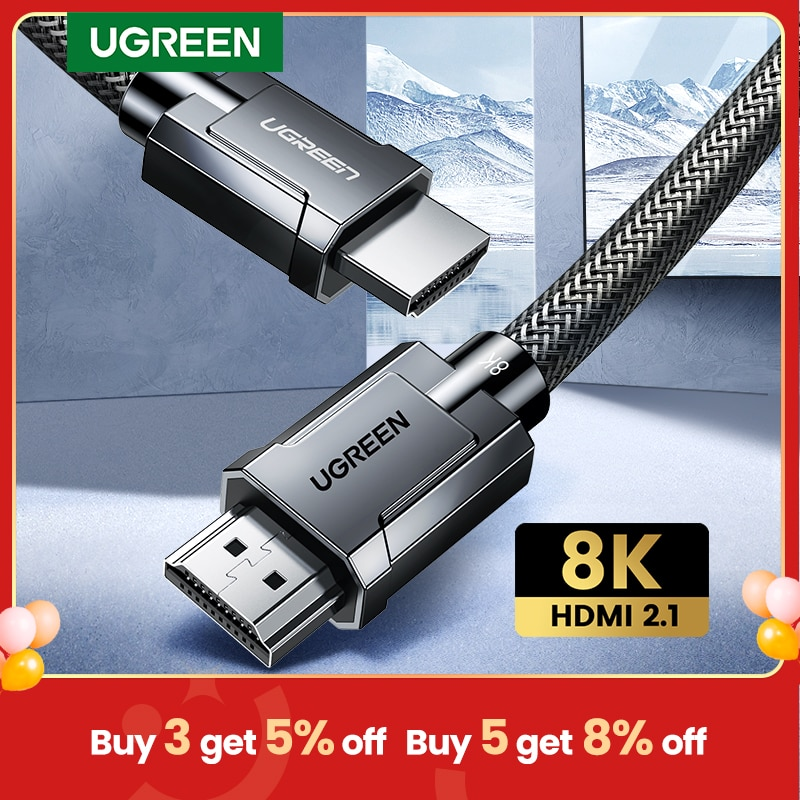 aliexpress - Ugreen HDMI 2.1 Cable for Xbox Series X RTX 3080 HDMI Cable 8K/60Hz 4K/120Hz 48Gbps Digital Cables 8K for PS5 RTX3070 Cable HDMI