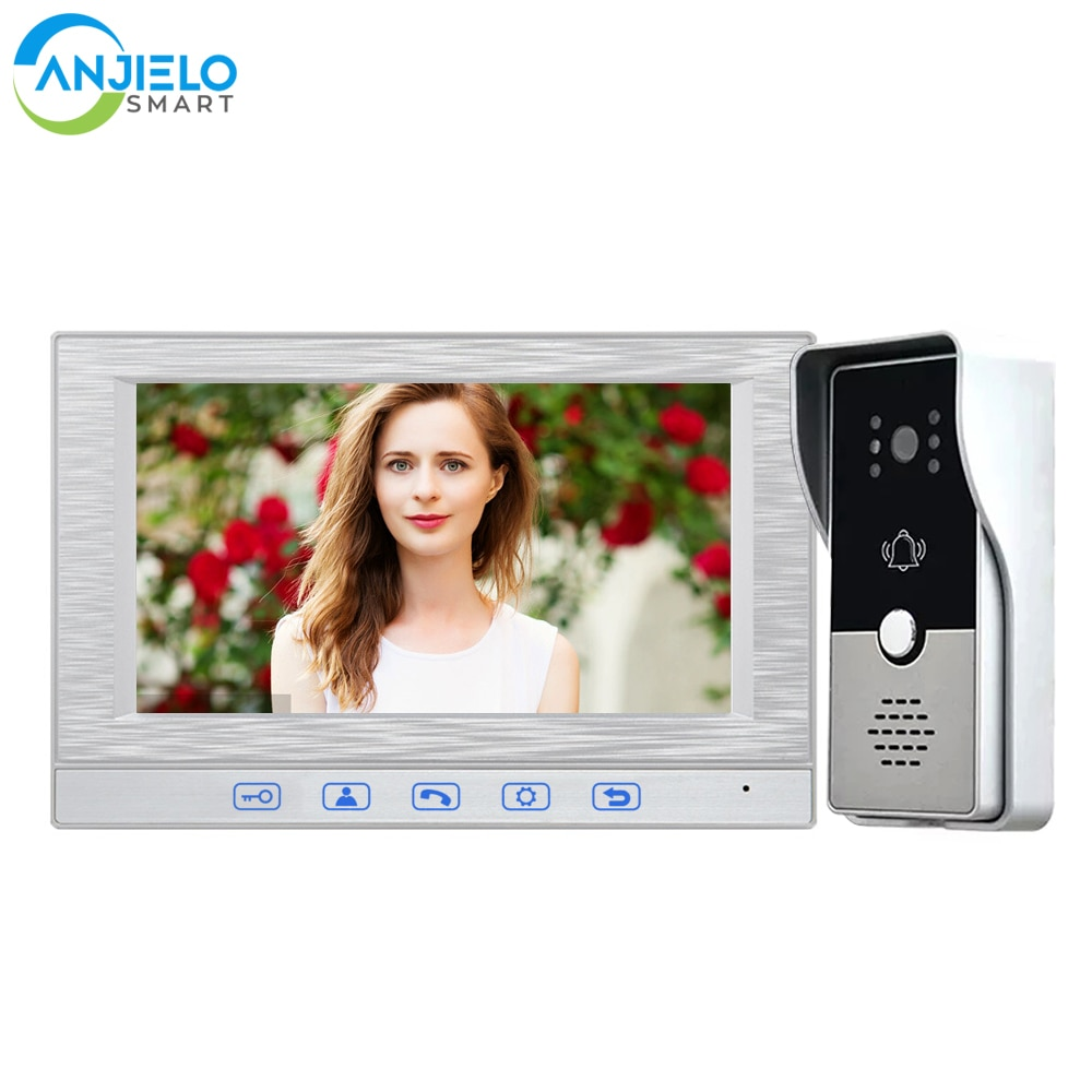 With 1000TVL Wired Doorbell Camera Midland Intercom for Home Smart Video 7-inch Magnetic Lock