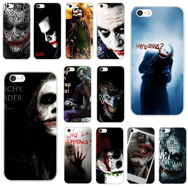 Batman y el Joker suave TPU piel teléfono móvil fundas para iPhone X XR XS Max 6 6S plus 7 7Plus 8 8Plus SE 5 5S 5C 4S