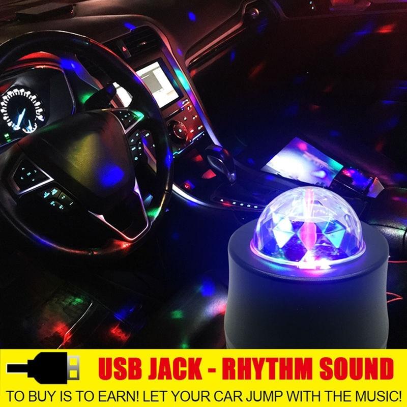 Автомобильный интерьер USB атмосферный свет неоновый несколько световых эффектов для Durango Journey зарядное устройство Калибр нитро автомобильн...