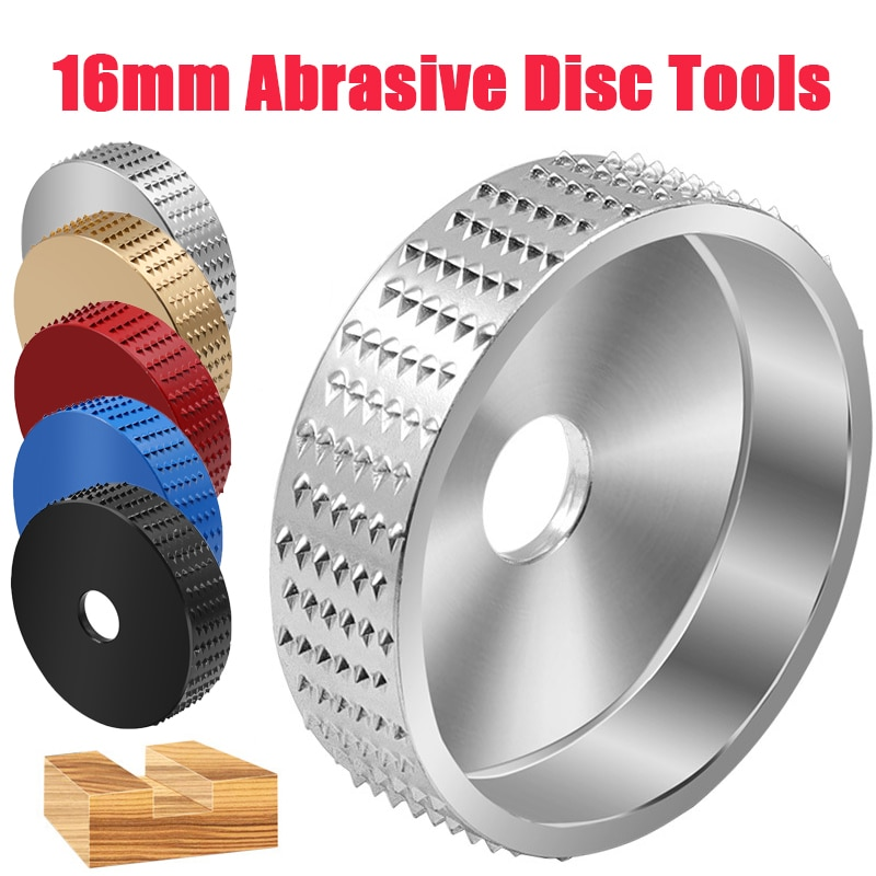Round Wood Angle Grinding Wheel Sanding Carving Polishing  Rotary Tool  Abrasive Disc Tools for Angle Grinder 4 Inch Bore
