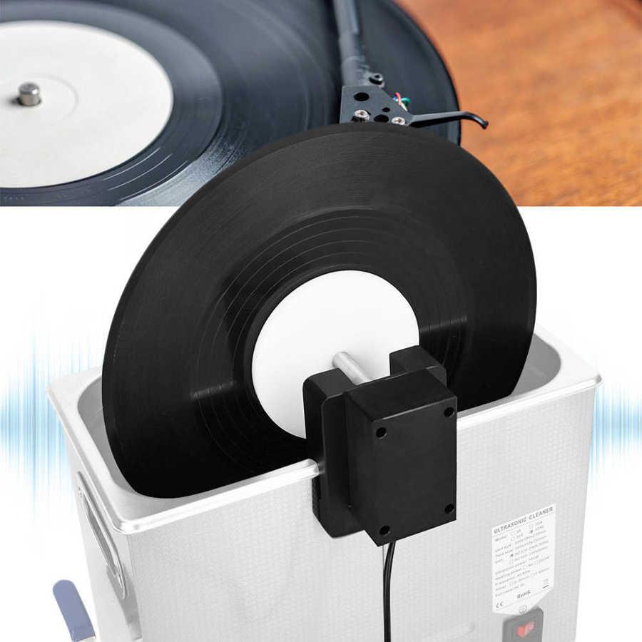 Limpiador Ultra sónico Rack para disco de vinilo US Plug 100-240V ultrasónico máquina de limpieza de discos sónicos LP disco lavadora set de baño