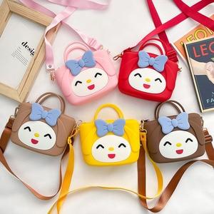 Soft Silicone Portable Slung Shoulder Bag Korean Cute Cartoon Clutch Mobile Phone Bag Fashion Women Crossbody Messenger Bags