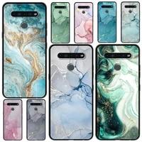 silicon case for lg k41s k61 k50 g6 k50s k40s k40 g8 g7 q60 k71 k42 soft phone cover back shell capa marble art fashion funda