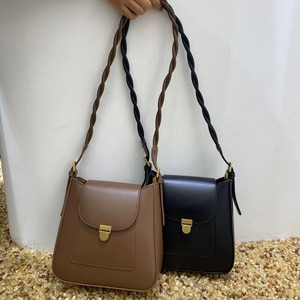 2021 New Solid Color New Women Handbags Korean Small Ladies Shoulder Bag PU Leather Female Crossbody Bag Two Straps Whole Sale