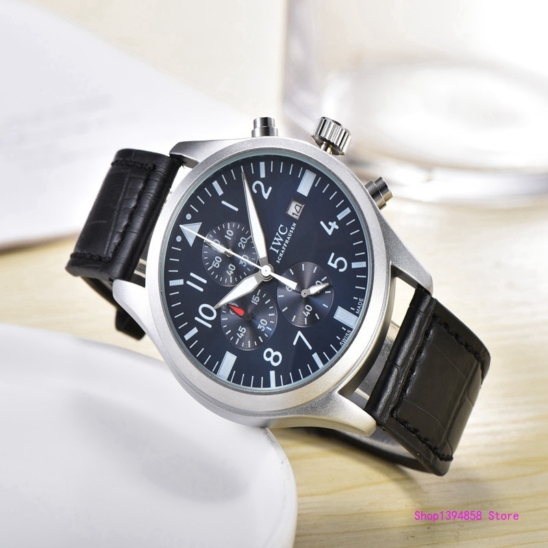 IWC- Luxury Men Business Quartz Watch Men's women Top Brand Wrist watch Chronograph Stop Watches Fas