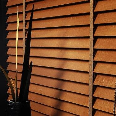Brown white Black Basswood Wooden Blinds Ladder Tape styel Customized Size Block the Light Real Wood venetian Blinds 50mm Slat