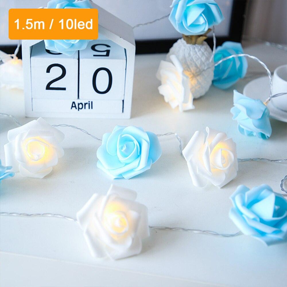 SXZM 1,5/3M luces de cadena de flores USB guirnalda de luces de guirnalda de 10/20leds adornos navideños para el hogar