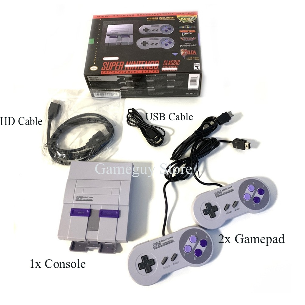 2020 Super HD Output SNES Retro Classic Handheld Video Game Player can Save the game Console Built-in 21 Games Dual Gamepad