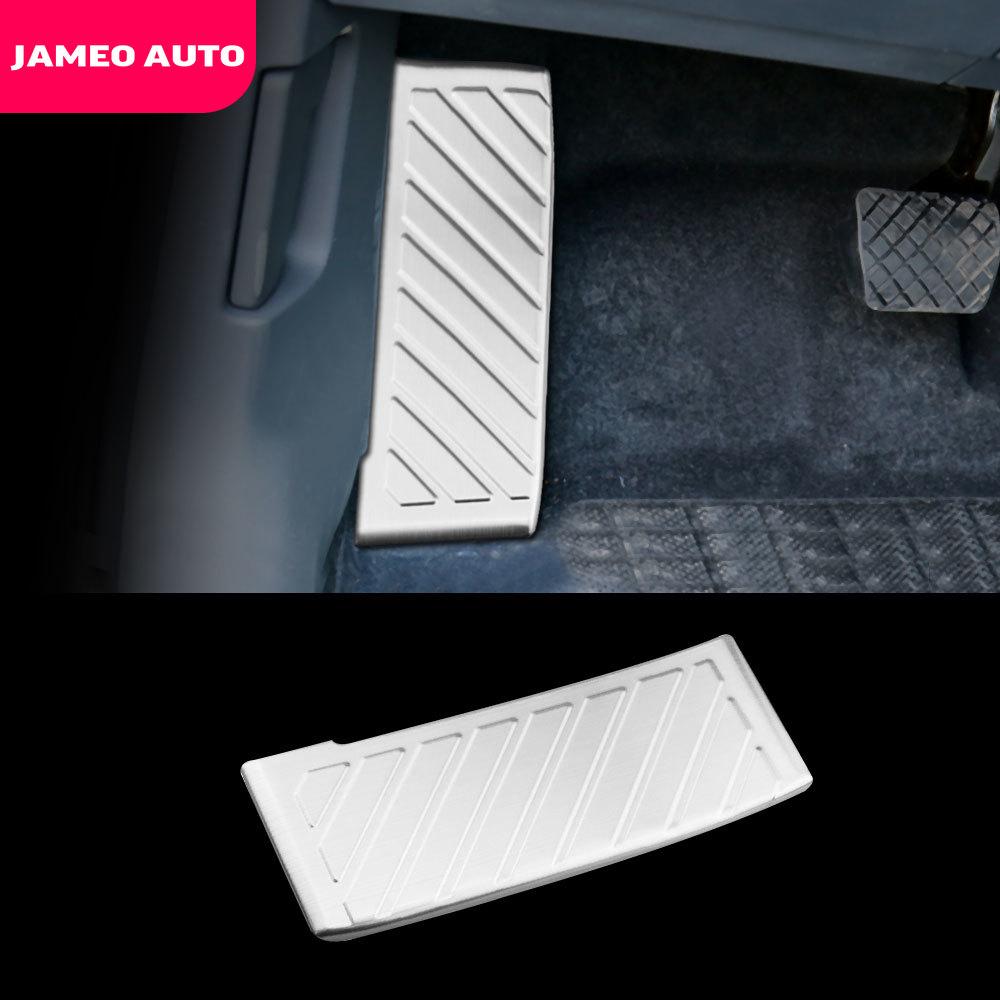 Jameo Auto Stainless Steel Car Rest Pedal Rest Foot Pedals for Volkswagen VW Tiguan 2017 Passat B8 T-cross Tcross T-roc Troc