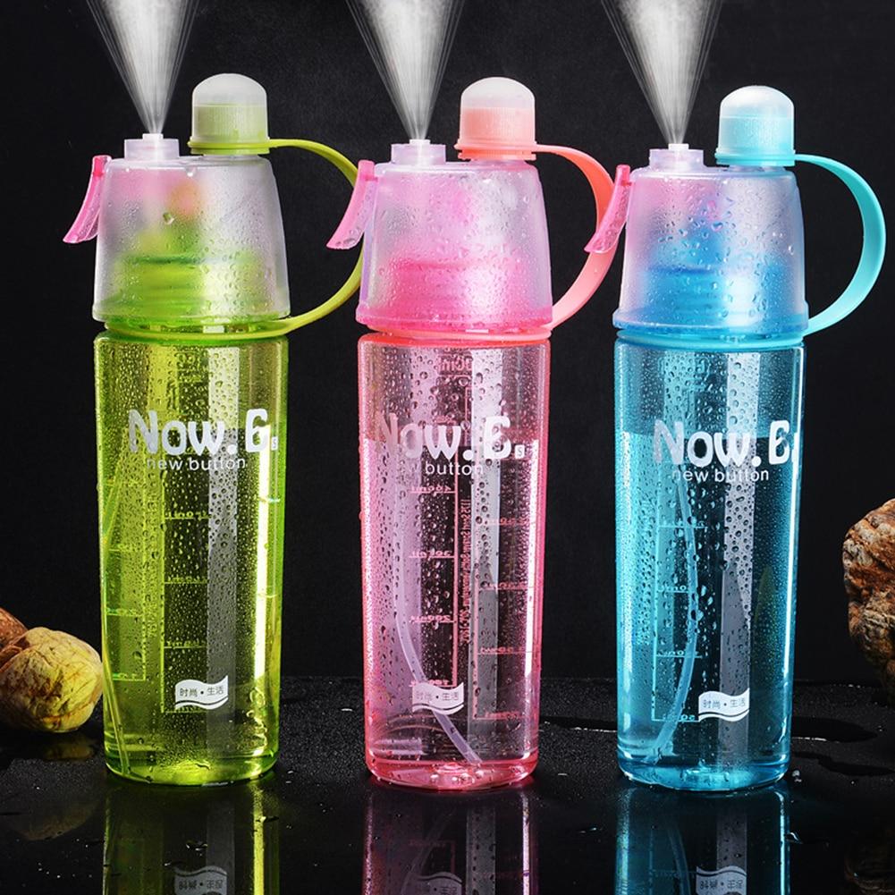 Spray Cool Summer Sport Water Bottle Water Bottle Portable Climbing Outdoor Bike Shaker My Water Bot