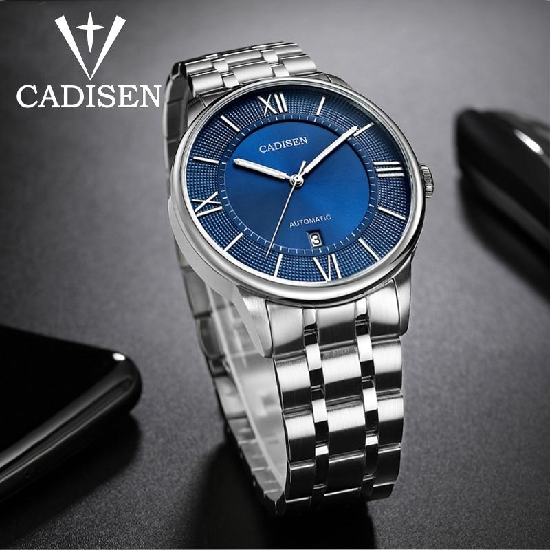 2020 CADISEN Men's Mechanical Watches Automatic Date Watch Men Sports Waterproof 50M Stainless Steel Watch Men Miyota Movement