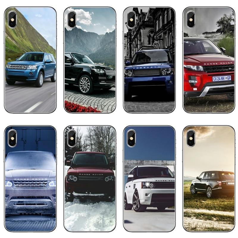 Range Rover blanco para iPhone 11 pro XR X XS X Max 8 7 6 6s plus SE 5S 5c iPod funda táctil 5 6