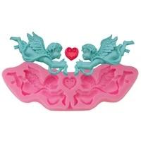 new angel cupid european pattern silicone mold fondant cake mould chocolate cake decoration homemade handicraft