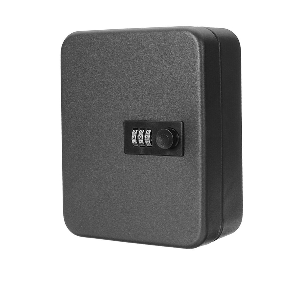 Home Car Resettable Code Office Password Combination Lock Organizer Key Safe Box Lockable Wall Mounted Metal