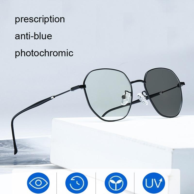Vintage Eyeglasses Frame Women Round Clear Myopia Mens Glasses Frames Lentes Opticos Para Mujer Fill Prescription