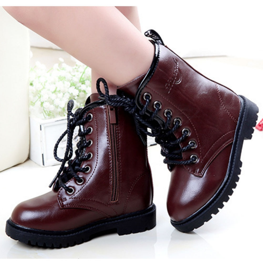 Kids Shoes Children Fashion Boots Toddler Boys Winter Mid Calf Waterproof for Child