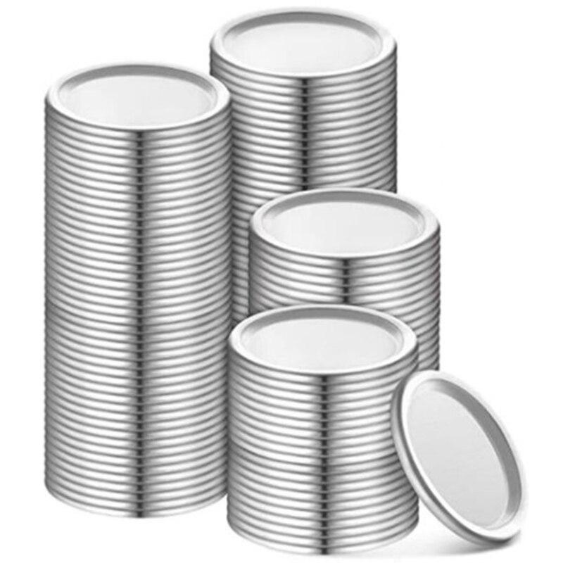70 مللي متر تعليب الأغطية جرة انقسام نوع الأغطية قابلة لإعادة الاستخدام تسرب برهان التخزين الصلبة قبعات معدنية تعليب أغطية عبوة (الفضة ، 192)