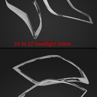 For Toyota Prado 10-17 ABS Chrome Headlight Head Lamp Hoods Cover Trim Car Styling Auto Accessories 2pcs