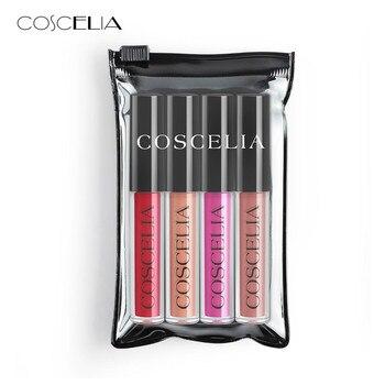 COSCELIA 10 Colors Waterproof Matte Liquid Lipstick long-lasting Red Black Lip gloss Makeup Stick Nude Beauty Lip Tint Cosmetics