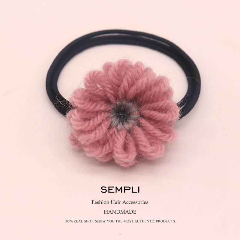 Sempli náilon elástico cabelo bandas de borracha flor maquiagem bandana para mulheres meninas suor lã fantasia patter artesanal acessórios para o cabelo
