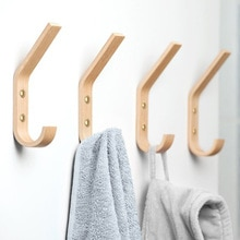 Wall wooden creative coat hook modern minimalist oak coat hook hook fitting room hook 4pcs