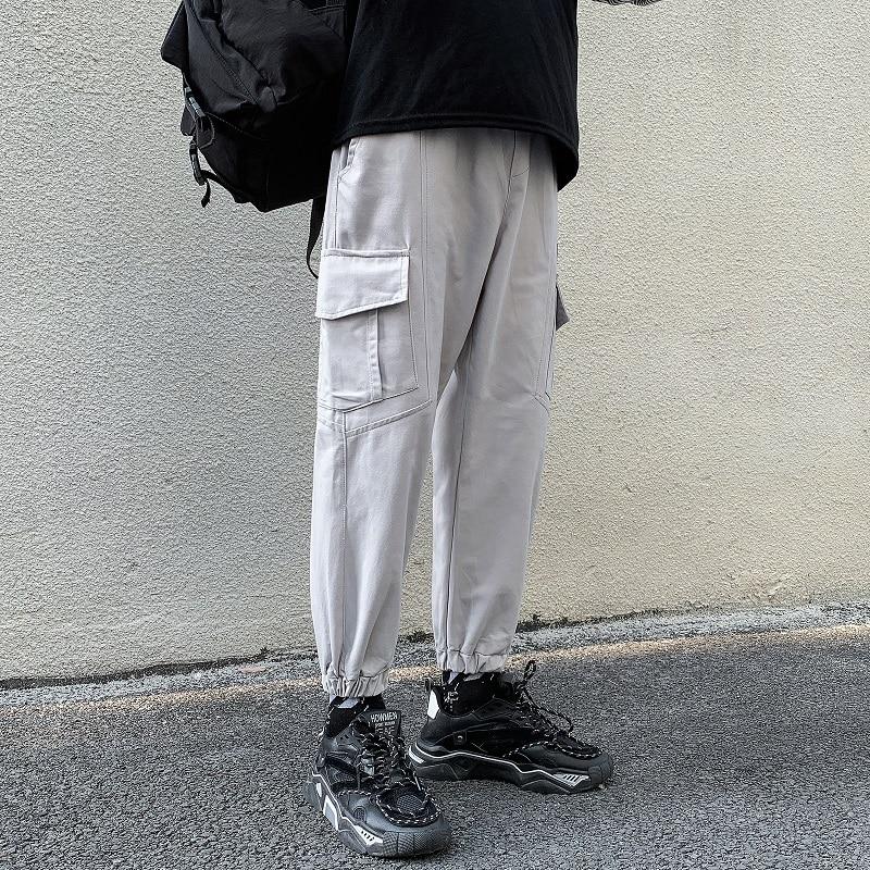 Hot New Streetwear Men's Cargo Pants Hip Hop Pure cotton Casual Male Track Pants Joggers Trousers Fashion Harajuku Men Pants