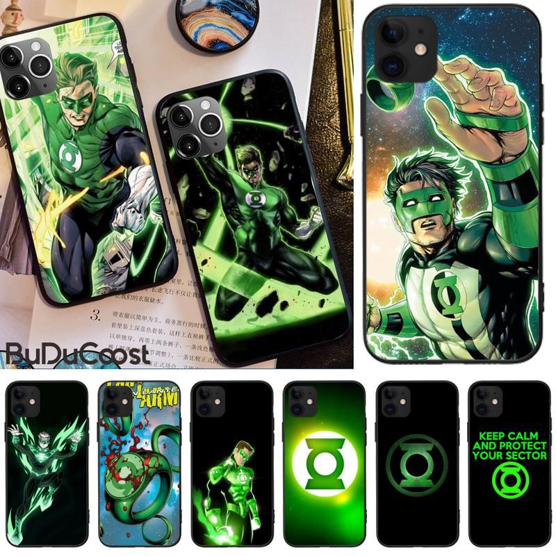 Green Lantern Hot Comic Superhero DIY Painted  Phone Case For iphone 5C 5 6 6s plus 7 8 SE 7 8 plus X XR XS MAX 11 Pro Max Cover
