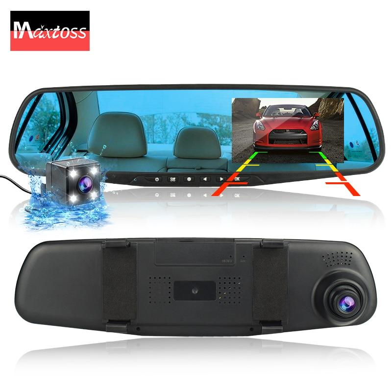 dvr dash camera dash cam car dvr mirror dual lens rear view camera rearview dashcam auto recorder video full hd front and rear