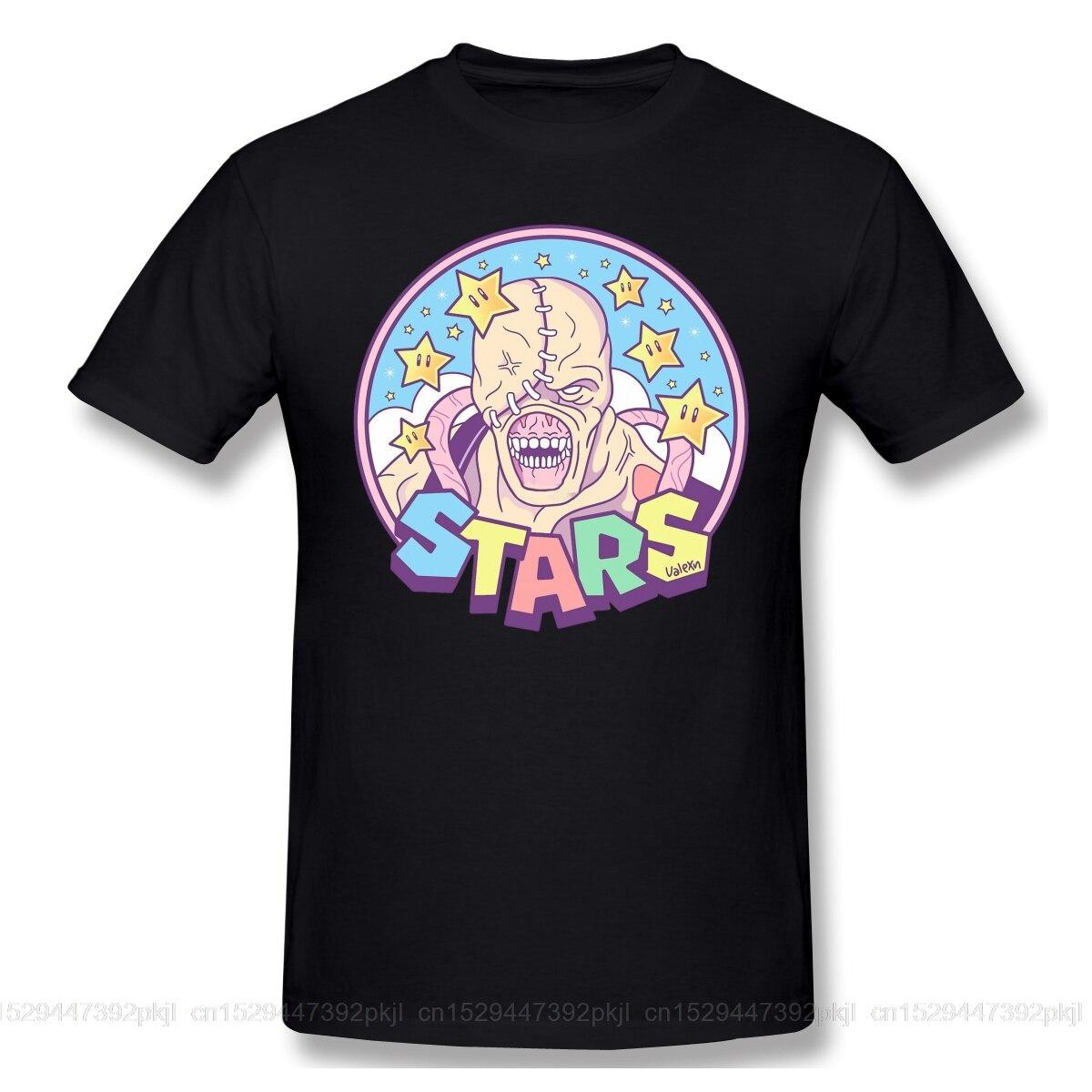 Футболки для мужчин, футболка с изображением звезд немеза, высокое качество, футболки для Дня отца, топы из 100% хлопка, одежда для игры в зомби