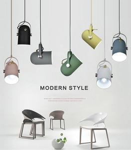 Simple Industrial Single headlights Nordic Modern LED E27 metal Pendant Lights lighting Decor Luminaire Droplight pendant lamps