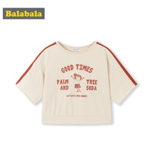Balabala Meisjes Baby T-shirt Korte Mouw 2020 Zomer Mode Kinderen Katoenen Top Losse Cartoon Leuke