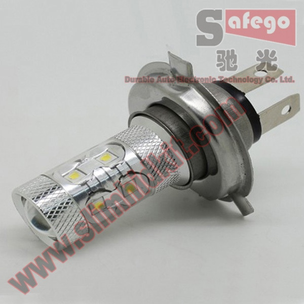 Safego 1pcs High Quality H4 50W LED Fog Light Auto LED Fog Lamp DC 12V 24V White Car Light Source Fog Lights