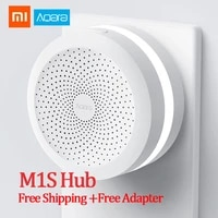 Xiaomi Aqara     Hub m1s Mijia gateway 3  wi-fi sans fil  Bluetooth ZigBee3 0  lumieres RGB intelligentes  veilleuse pour application Mi Home  Homekit