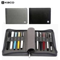 kaco alio pen storage bag for 10 pens zipper warterproof pen storage bag black pen case holder storage pouch pencil
