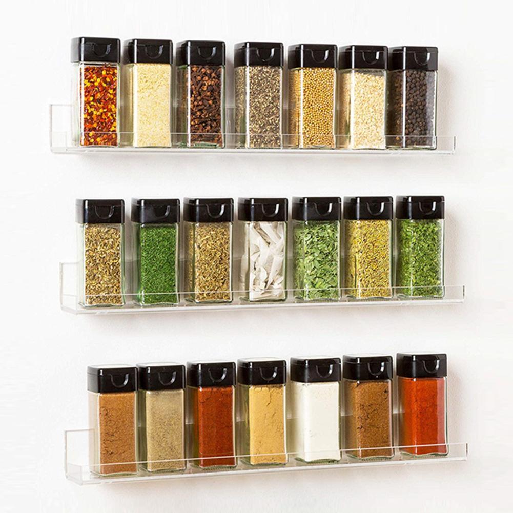 Pot à épices Transparent lot de 4   Boîte dassaisonnement Transparent Pots à épices, conteneur de stockage de condiments, pot à épices accessoires de cuisine