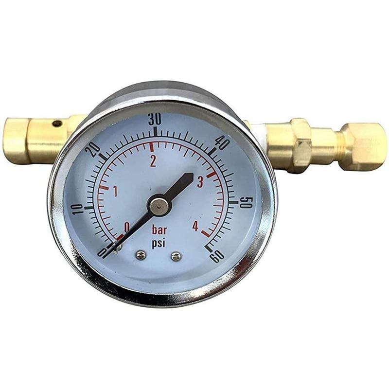 صمام ضغط قابل للتعديل مع مقياس 0-60 Psi ، قفل كروي ، معدات برميل البيرة المنزلية ، لتخمير البيرة