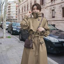 Top Women Casual Solid Color Double Breasted Outwear Fashion Sashes Office Coat Long Trench Winter C