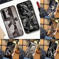 rifles ar 15 guns fire man phone case for huawei nova 2 2i 2s 3i 4 4e 5 plus p10 lite 20 p20 pro honor10